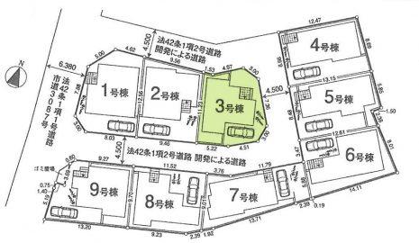 敷地面積112.67平米。駐車1台可。
