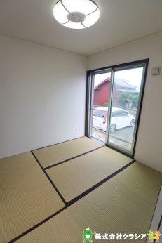 1階4.5帖の和室です。畳は部屋の湿度を自然に調整して快適な空間にしてくれますよ(2019年9月撮影)
