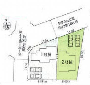 敷地面積広々57.13坪。カースペース2台駐車可。