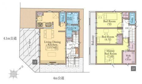 居室3部屋の3LDKです。全居室お手入れのしやすい洋室です。ベッドなどの重い家具を置きやすいのでお部屋をコーディネートしやすいですよ。