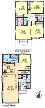 居室4部屋の4LDKです。2面採光で陽当り良好です。窓から射し込む光で居心地のいいお部屋にしてくれますね。