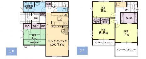 居室4部屋の4LDKです。全居室ゆとりの6帖以上。2面採光で明るく日当たり良好です。